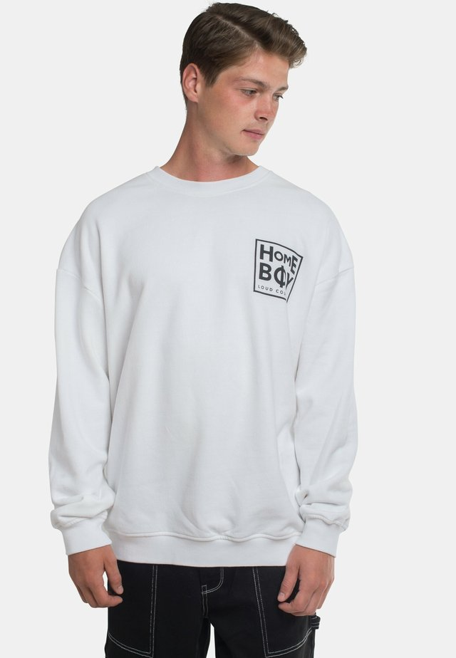 THE BIGGER - Sweatshirt - white