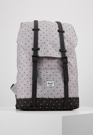 RETREAT MID VOLUME - Rucksack - crosshatch grey/black