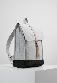 Herschel - CITY MID VOLUME - Reppu - light grey crosshatch/ash rose/black - 3