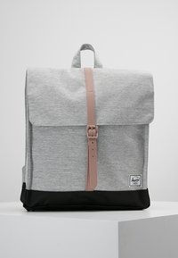 Herschel - CITY MID VOLUME - Reppu - light grey crosshatch/ash rose/black - 0