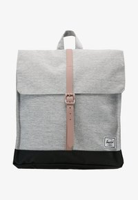 Herschel - CITY MID VOLUME - Reppu - light grey crosshatch/ash rose/black - 5