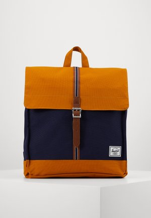 CITY MID VOLUME - Sac à dos - peacoat/buckthorn brown
