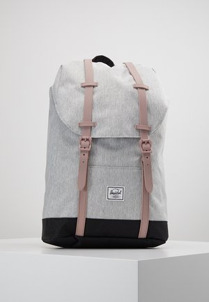 RETREAT MID VOLUME - Rucksack - light grey crosshatch/ash rose/black