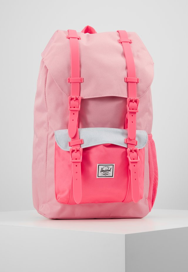 LITTLE AMERICA YOUTH - Tagesrucksack - neon pink/ballad blue pastel crosshatch