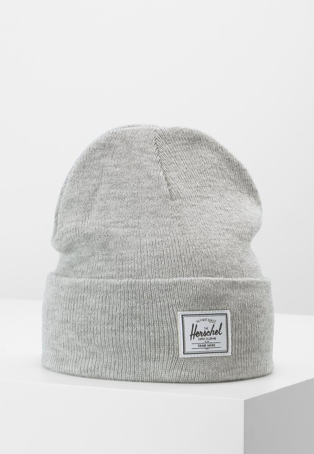 ELMER  BEANIE - Lue - heathered light grey