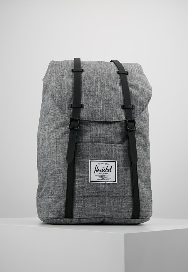 RETREAT - Rucksack - raven crosshatch / black rubber