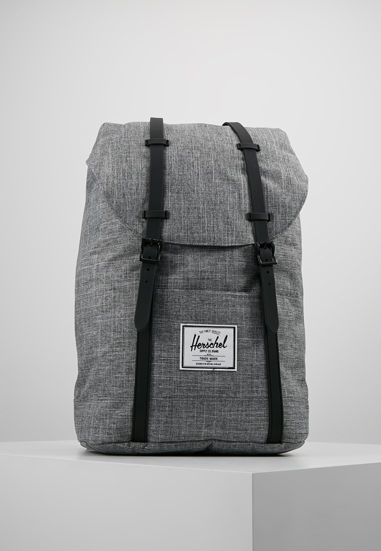 Herschel - RETREAT - Rucksack - raven crosshatch / black rubber
