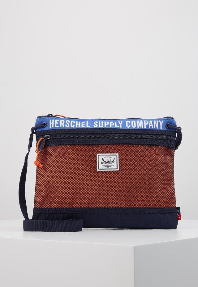 ALDER - Across body bag - amparo blue/peacoat/vermillion orange