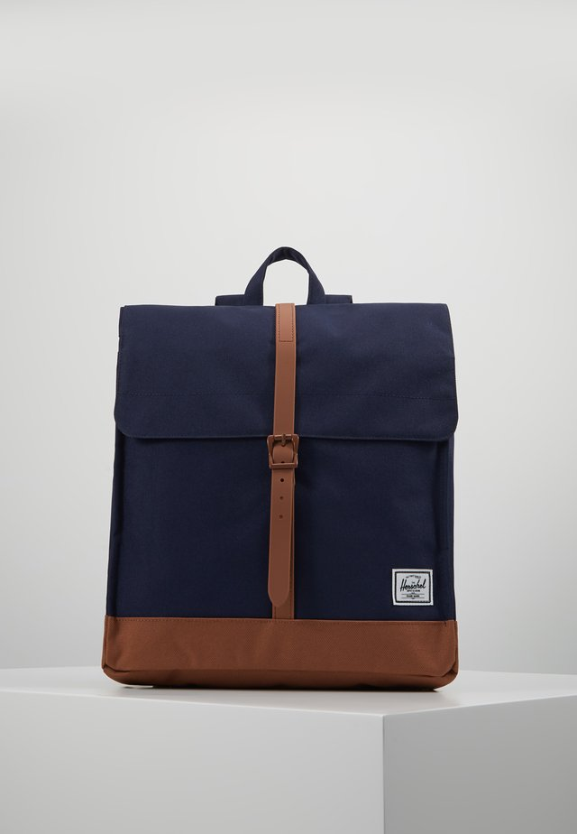 CITY MID VOLUME - Mochila - peacoat/saddle brown
