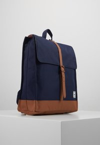 Herschel - CITY MID VOLUME - Reppu - peacoat/saddle brown - 3
