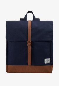 Herschel - CITY MID VOLUME - Reppu - peacoat/saddle brown - 6