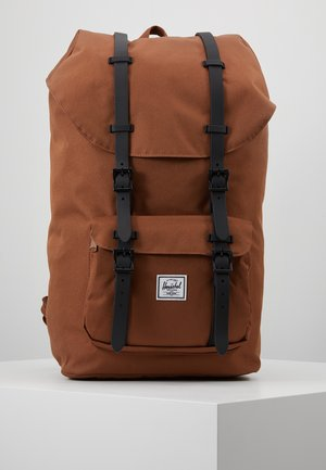 LITTLE AMERICA - Rucksack - saddle brown/black