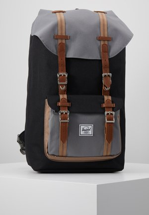 LITTLE AMERICA - Tagesrucksack - black/grey/pine bark/tan