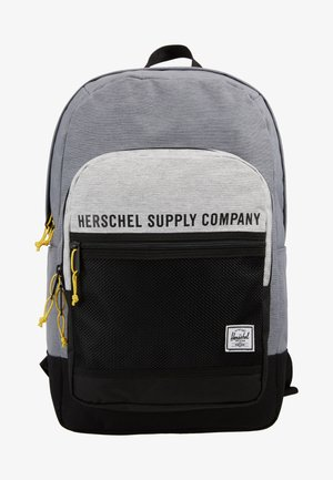 KAINE - Rucksack - mid grey crosshatch/light grey crosshatch/black