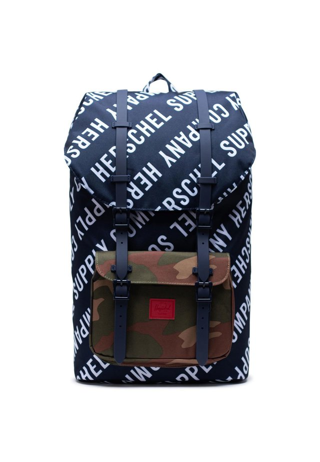 LITTLE AMERICA  - Tagesrucksack - roll call peacoat / woodland camo