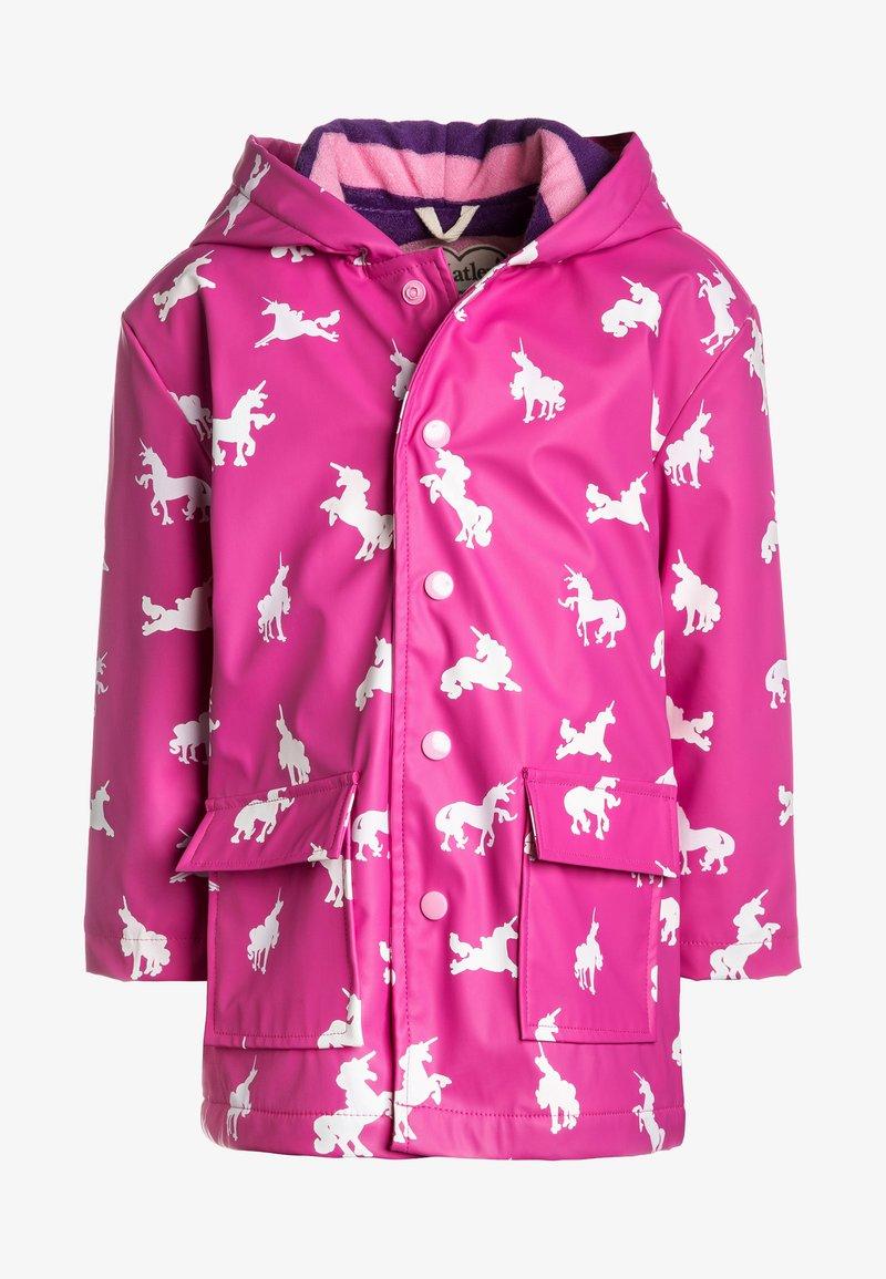 Hatley - COLOUR CHANGING UNICORN SILHOUETTES RAINCOAT - Regnjakke / vandafvisende jakker - pink