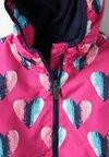 Hatley - HEARTS MICROFIBER RAIN JACKET - Regenjacke / wasserabweisende Jacke - pink