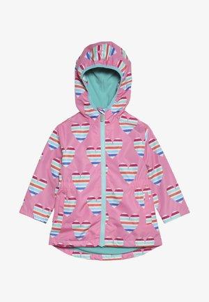 KIDS JACKETS HEARTS - Waterproof jacket - pink