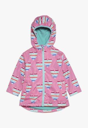KIDS JACKETS HEARTS - Vodotěsná bunda - pink
