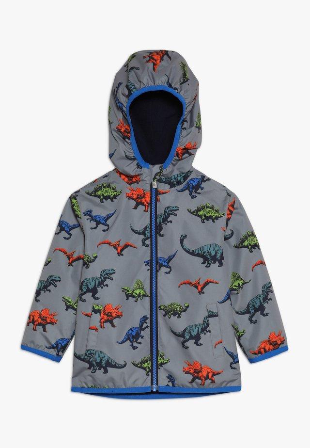 KIDS WILD DINOS - Waterproof jacket - grey