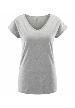 FUNKTIONSSHIRT CAMP TEE - Basic T-shirt - grey melange