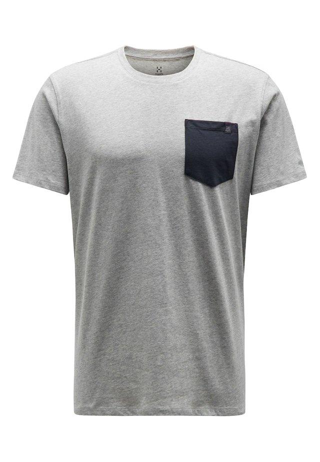 Print T-shirt - grey melange/slate
