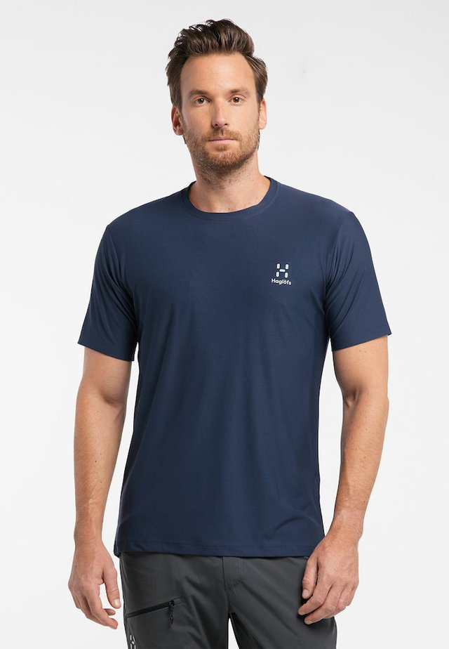 L.I.M TECH  - Print T-shirt - tarn blue