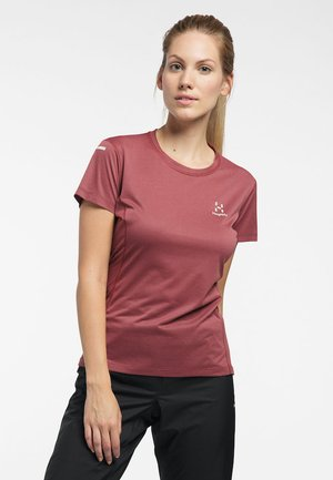 Print T-shirt - maroon red