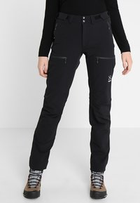 Haglöfs - BRECCIA PANT WOMEN - Pantaloni outdoor - true black/magnetite - 0