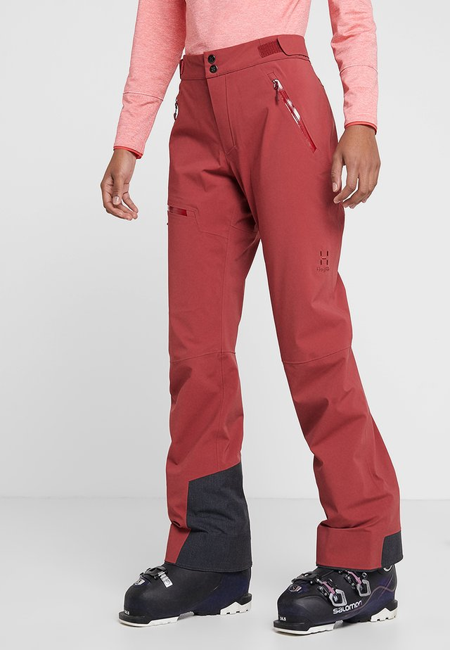 STIPE PANT WOMEN - Kangashousut - brick red