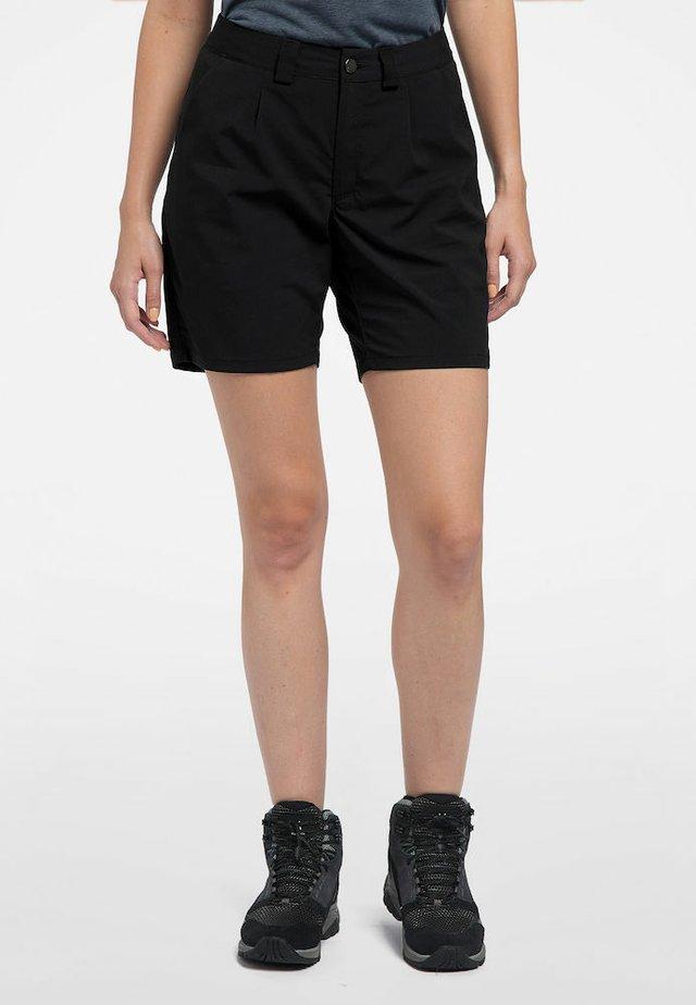 KURZE WANDERHOSE MID SOLID WOMEN - Outdoor shorts - true black