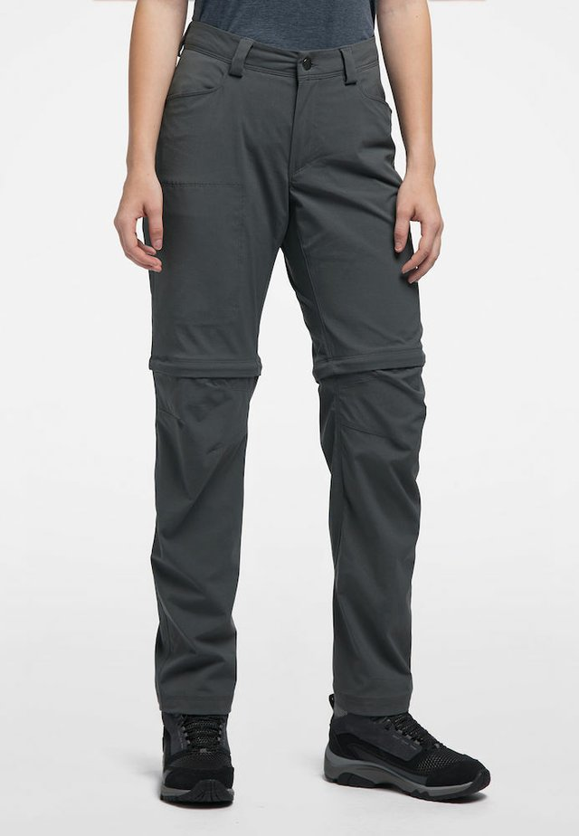 ZIP OFF PANT WOMEN - Outdoor trousers - magnetite