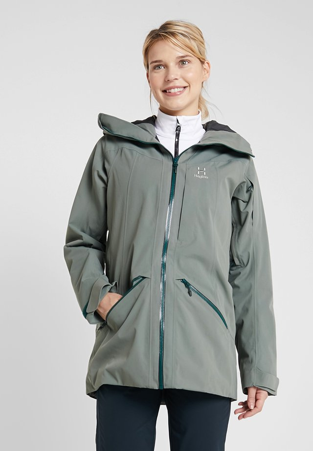 NIVA INSULATED PARKA WOMEN - Vinterkappa /-rock - agave green