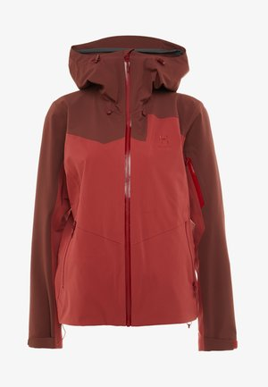 STIPE JACKET WOMEN - Snowboardjacke - brick red/maroon red
