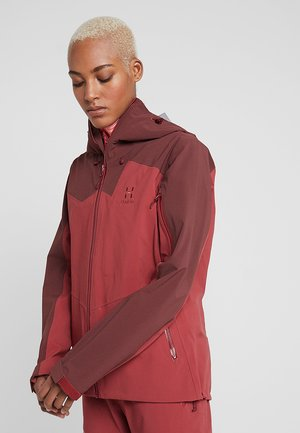 STIPE JACKET WOMEN - Snowboardjacka - brick red/maroon red