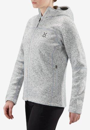 HAGLÖFS FLEECEJACKE SWOOK HOOD WOMEN - Fleece jacket - white