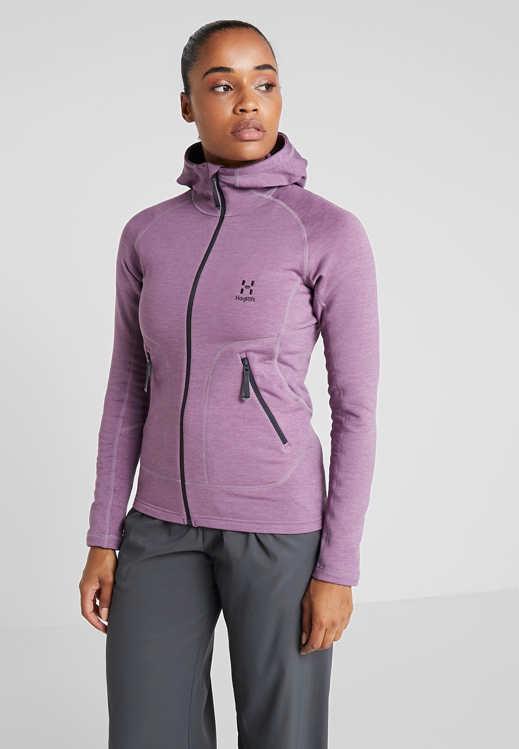 Polaire Purple Heron WomenVeste Haglöfs Hood Milk g76yfb