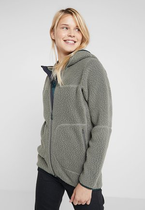PILE HOOD WOMEN - Giacca in pile - agave green
