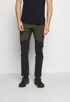 Pantalones montañeros largos - deep woods/true black