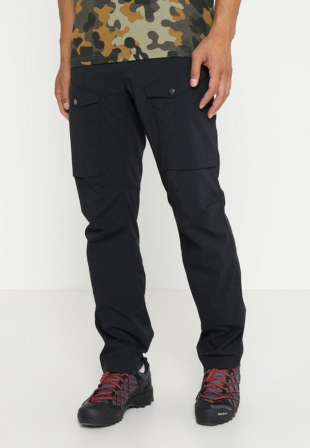 MID FJORD PANT MEN - Długie spodnie trekkingowe - true black