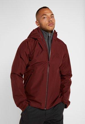 MERAK - Waterproof jacket - maroon red
