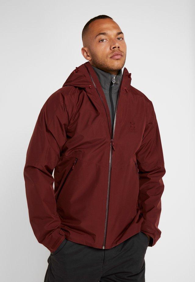 Vodotěsná bunda - maroon red