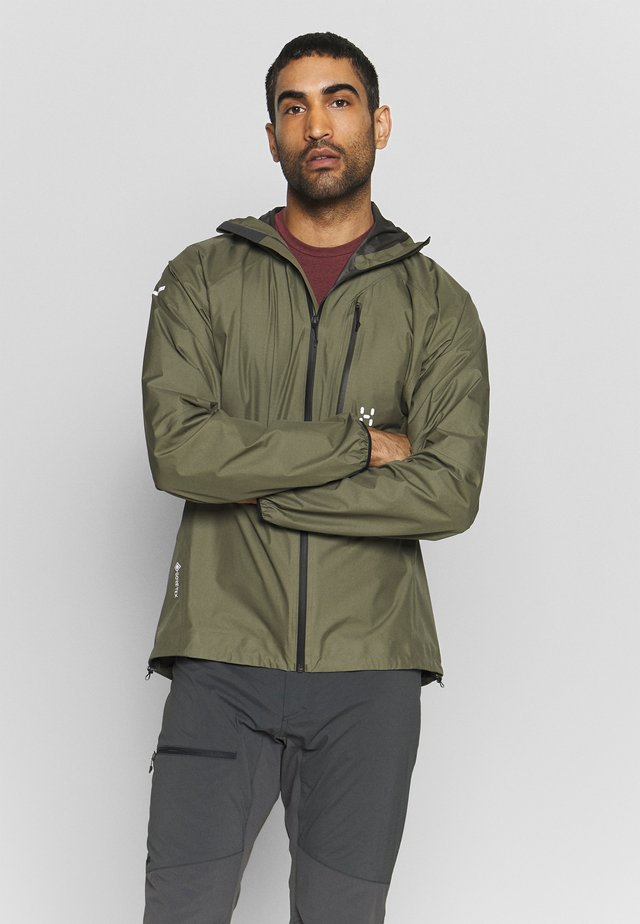 L.I.M JACKET MEN - Hardshelljacka - sage green