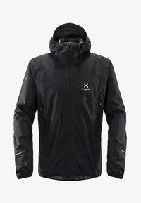 Haglöfs - HAGLÖFS REGENJACKE L.I.M PROOF MULTI JACKET MEN - Regenjacke / wasserabweisende Jacke - black - 0