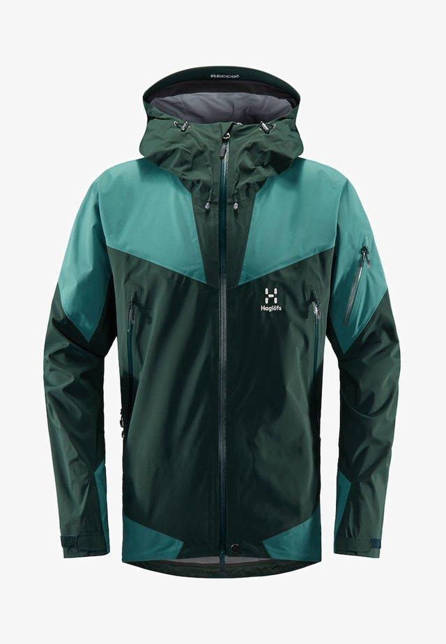 HAGLÖFS SKIJACKE ROC SPIRE JACKET MEN - Waterproof jacket - mineral/willow green