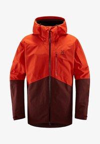 Haglöfs - HAGLÖFS SKIJACKE NENGAL JACKET MEN - Snowboard jacket - orange - 4