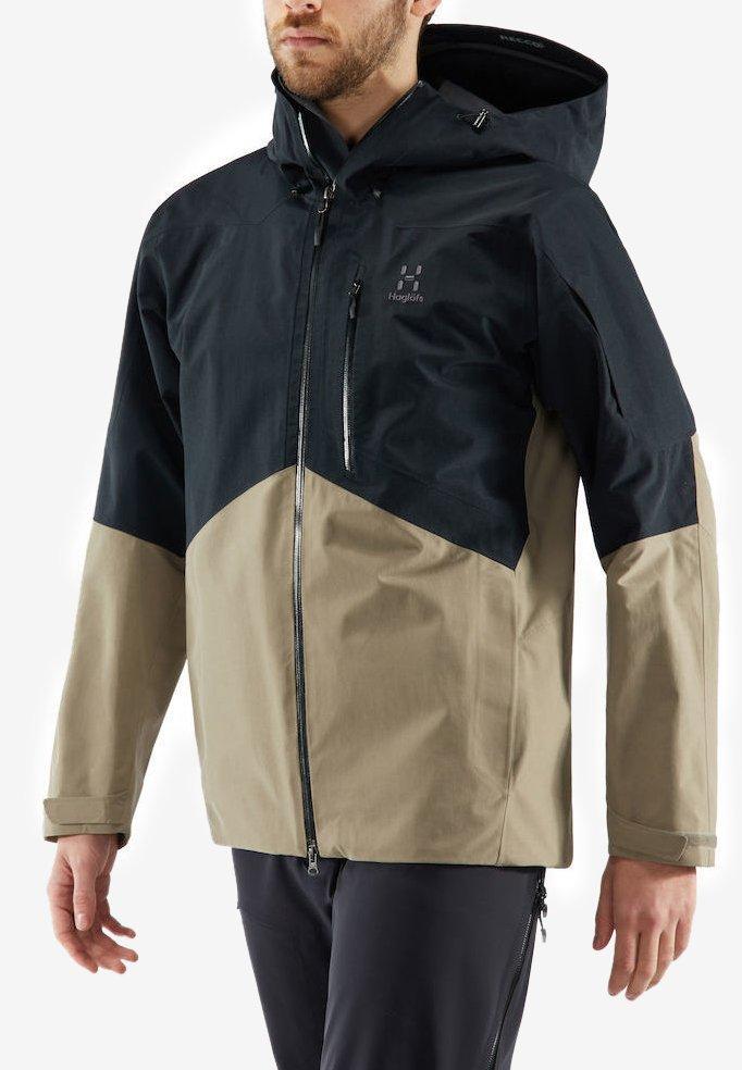 Haglöfs - HAGLÖFS SKIJACKE NENGAL JACKET MEN - Snowboard jacket - true black/dune