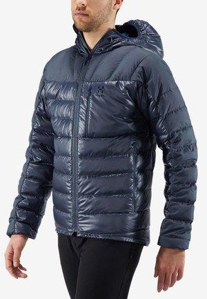 HAGLÖFS DAUNENJACKE BIVVY DOWN HOOD MEN - Down jacket - dense blue