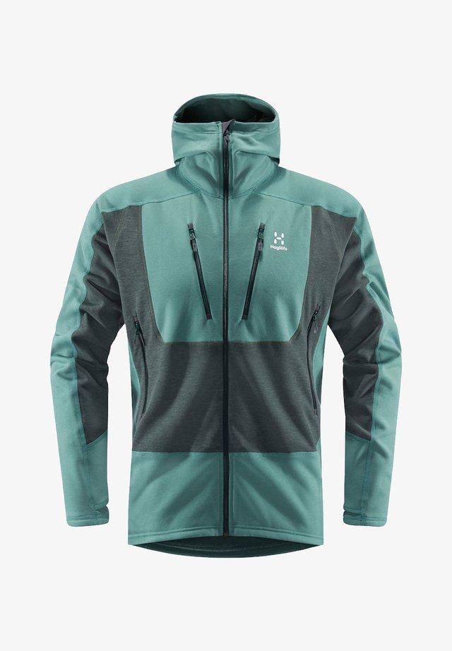 HAGLÖFS FLEECEJACKE SERAC HOOD MEN - Training jacket - willow green/mineral