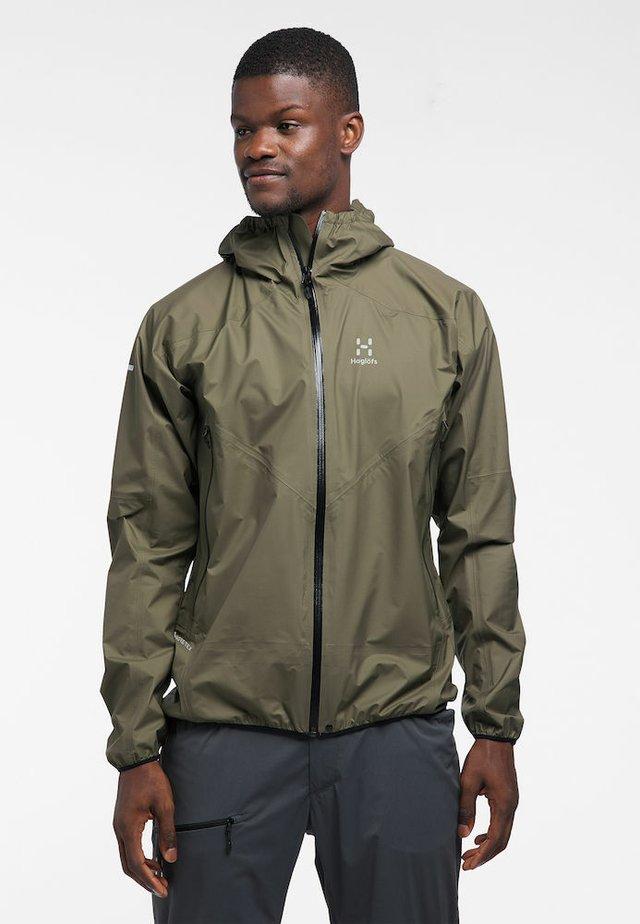 HAGLÖFS REGENJACKE L.I.M COMP JACKET MEN - Outdoor jacket - sage green